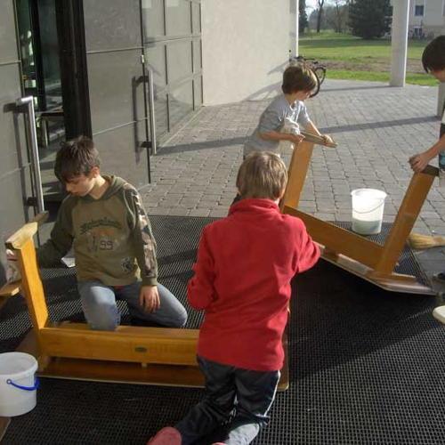 Bild zum Weblog Der Schulanbau wird bezogen
